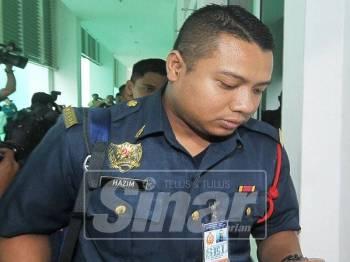 Mohd Hazim antara saksi Inkues Kematian Muhammad Adib hadir ke Kompleks Mahkamah Shah Alam. - Foto Sinar Harian oleh ROSLI TALIB
