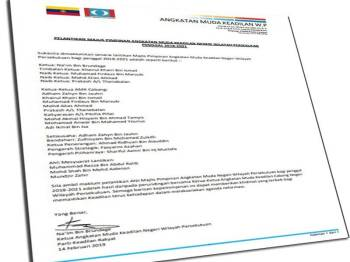 Senarai nama anggota Majlis Pimpinan AMK WP penggal 2018-2021 yang diumum hari ini