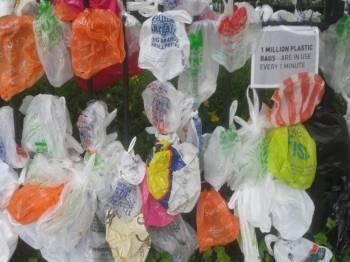Dikatakan, bagi setiap lima minit, sehelai beg plastik digunakan mengambil masa lebih 50 tahun untuk mereput. - sumber foto: Xarxanet