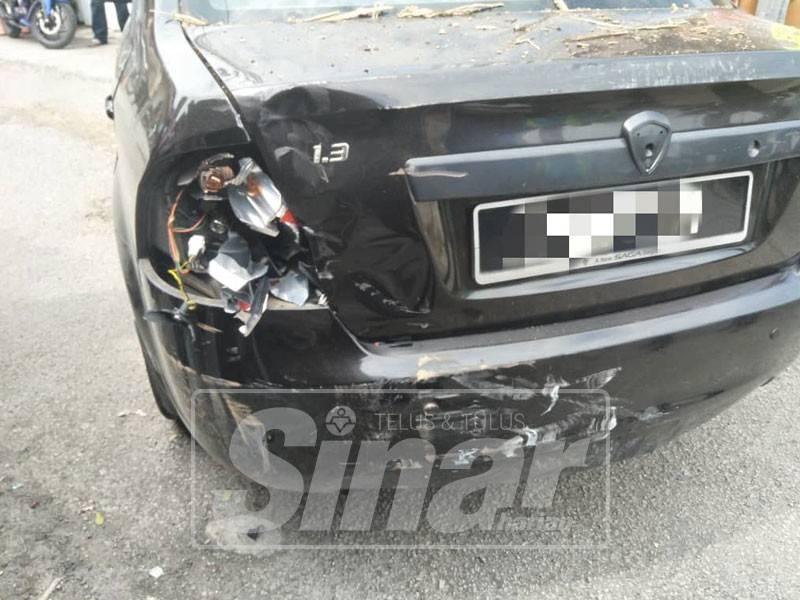 Kereta yang dipandu seorang wanita dipercayai mengundur lalu melanggar mangsa.