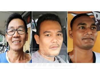 Dari kiri: Kong Hup, Mohd Norhafizam, Mohd Aeril Khai