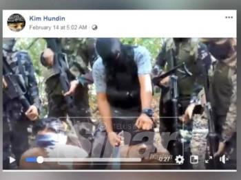 VIDEO yang dimuat naik seorang pengguna dengan nama Kim Hundin