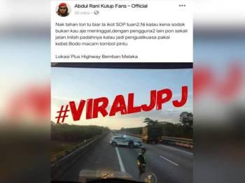Gambar yang tular di media sosial berkaitan insiden itu.