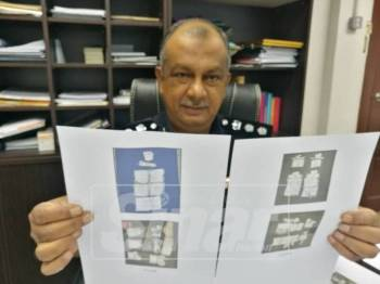 Zulkifli menunjukkan rampasan dadah yang dibuat susulan penahanan keldai dadah warga tempatan.
