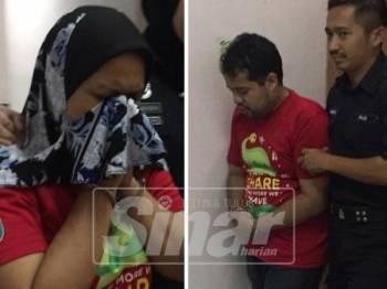 Muhammad Farid dan Yuliani dibawa keluar dari kamar perbicaraan.