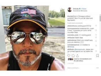 Gambar yang dimuat naik KJ di laman Instagram milik beliau.