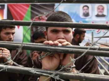 Tahanan Palestin yang ditahan di penjara Israel