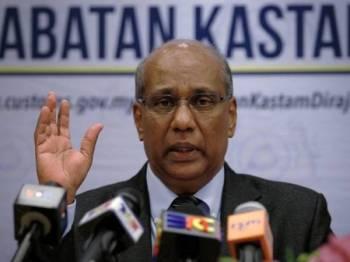 Ketua Pengarah Kastam Datuk Seri T Subromaniam sewaktu sidang media selepas Mesyuarat Pengarah-Pengarah Kastam Se-Malaysia Ke-87 di ibu kota, hari ini. Foto: Bernama