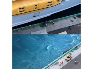 Insiden pasangan suami isteri tertinggal kapal pelayaran ketika bercuti. -Daily Mail