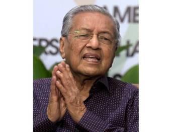 Mahathir Mohamad ketika sidang media pada Majlis Sambutan Hari Landskap Negara 2019 bertemakan