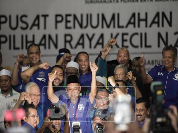 BN menang dengan majoriti 1,914 mengalahkan tiga pencabar lain dalam PRK DUN Semenyih pada Sabtu. - Foto Sinar Harian oleh ZAHID IZZANI