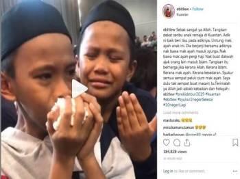 Video syahdu yang dimuat naik oleh Ustaz Ebit Lew yang meragut perasaan netizen