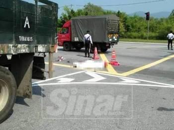 Mangsa disahkan meninggal dunia di lokasi kejadian.