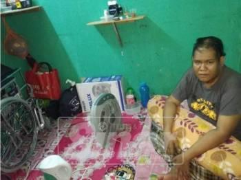 Ahmad Naruddin kini menyewa bilik di Bandar Rawang tanpa sebarang pendapatan.