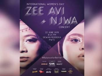 Poster Konsert Zee Avi & Njwa