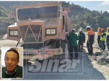 Sepasukan pegawai penyiasat JKKP Perak menjalankan siasatan lanjut di tapak lombong susulan kematian seorang penyelia, semalam. (gambar kecil: Zamzurin)