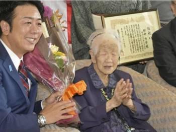 Kane Tanaka diikitriaf sebagai wanita tertua di dunia