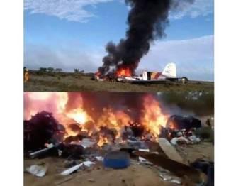 Kesemua 12 penumpang dalam pesawat dilaporkan terbunuh. - Foto Camioneros de Colombia