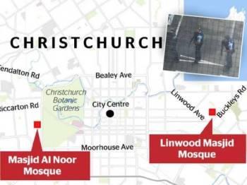 Lokasi di mana insiden tembakan berlaku. - Foto NZ Herald