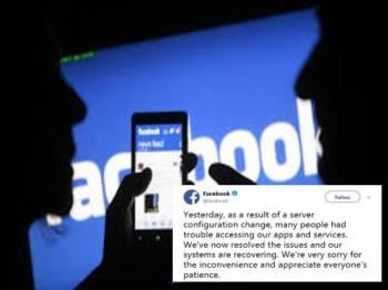 Kenyataan yang dimuat naik Facebook berkaitan masalah itu.