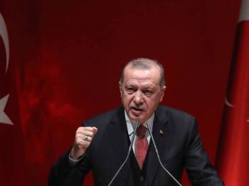 Presiden Turki Recep Tayyip Erdogan mengutuk serangan masjid di Christchurch.- Foto AFP