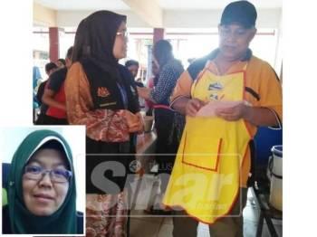 Sebahagian daripada Program Pemutihan yang dijalankan Perkeso Melaka di sebuah premis perniagaan di Ayer Keroh, baru-baru ini. (Gambar kecil: FADHILAH)