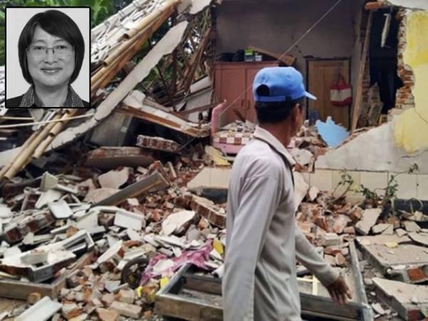 Gempa kuat landa Lombok.