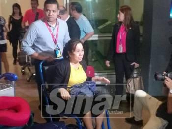 Ong Lee Jye ketika ditemui pemberita sejurus tiba di Balai Ketibaan Antarabangsa, di KLIA di sini.