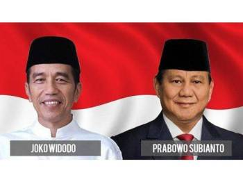 Jokowi dan pencabarnya, Prabowo Subianto.