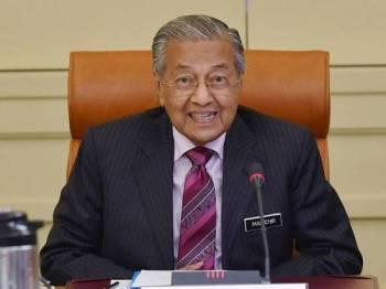 Perdana Menteri Tun Dr Mahathir Mohamad mempengerusikan Mesyuarat Majlis Tindakan Ekonomi di Bangunan Perdana Putra hari ini. - Foto Bernama
