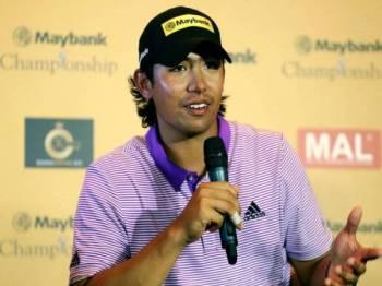 Gavin Kyle Green pada sidang media Kejohanan Maybank Saujana Golf and Country Club, semalam. - Foto Bernama