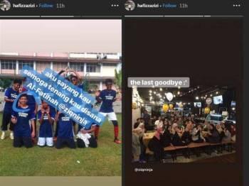 Instagram Muhammad Haziq dihujani komen, lahir kesedihan di atas berita pemergiannya.
