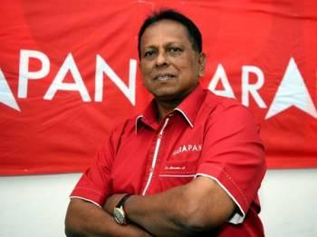 Dr S Streram yang dinamakan semula sebagai calon Pakatan Harapan bagi Pilihan Raya Kecil (PRK) Dewan Undangan Negeri Rantau 13 April ini. - Foto Bernama