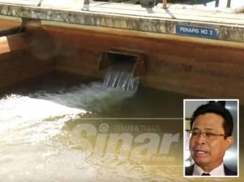 Bekalan air di Terengganu masih bertahan namun boleh terjejas jika tidak dikawal. Gambar  kecil: Ir Atemin Sulong