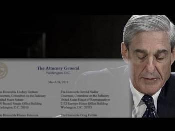 Laporan dibuat Mueller mendapati Trump tidak berkoordinasi dengan Moscow.