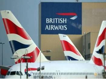 Sebuah pesawat British Airways tersalah mendarat. - Foto Reuters