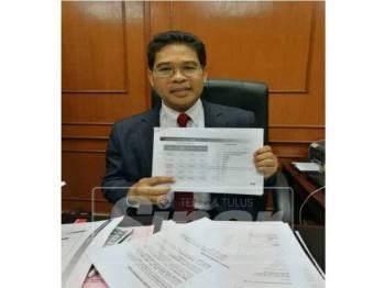 Dr Rafie menunjukkan statistik dikeluarkan MIDA Negeri Sembilan menunjukkan peningkatan pelaburan pada tahun lalu.
