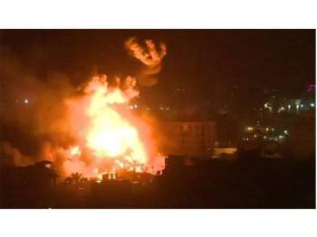 Rejim Israel menyerang lokasi kumpulan Hamas di Semenanjung Gaza. - Foto BBC
