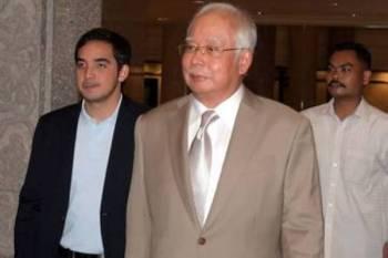 Bekas Perdana Menteri Datuk Seri Najib Tun Razak ketika hadir di Mahkamah Persekutuan hari ini. - Foto Bernama