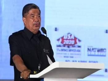 Menteri Pertahanan Mohamad Sabu Menteri Pertahanan Mohamad Sabu berucap pada majlis pelancaran Pameran Perkhidmatan Pertahanan Asia (DSA) dan Pameran Antarabangsa Keselamatan Kebangsaan (NATSEC) Asia 2020 di Pusat Pameran Antarabangsa Mahsuri (MIEC) hari ini. - Foto Bernama