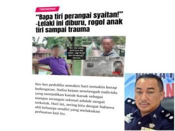Gambar yang disebarkan bapa saudara mangsa di dalam akaun Twitter miliknya (Gambar kecil: Suffian Sulaiman)