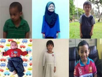 Gambar atas dari kiri: Adam Adrian, Halimatun Saadiah, Nur Atiqah Abdullah. Gambar bawah dari kiri: Kan Loi Hoong, Tay Miao Xin, Muzammil Abdullah.