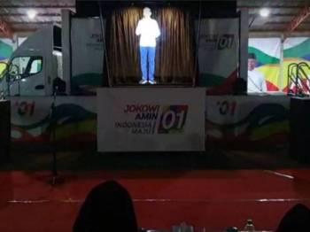 Jadual yang padat menyebabkan Jokowi menggunakan hologram untuk berkempen.