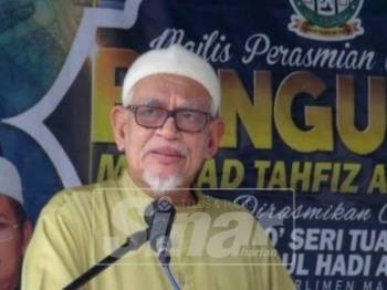 Abdul Hadi ketika merasmikan Bangunan Maahad Tahfiz Asy-Syatibi di Alur Lit.