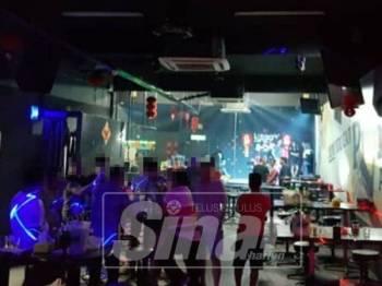 Pusat hiburan berkenaan yang digempur D7 Selangor.