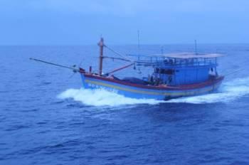 Bot nelayan asing yang ditahan.