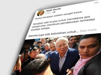 Hamparan Najib di Facebook hari ini.