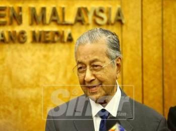 Dr Mahathir Mohamad  - Foto Sinar Harian Zahid Izzani