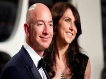 Pemilik Amazon, Jeff Bezos dan bekas isterinya Mackenzie. - Foto Reuters