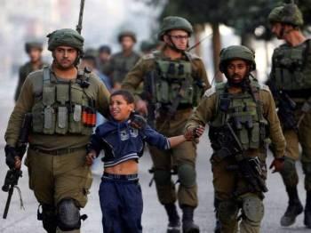 Lebih seribu kanak-kanak ditahan rejim Zionis pada 2018.